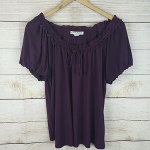 Claudia Richard | Purple Ruched Blouse